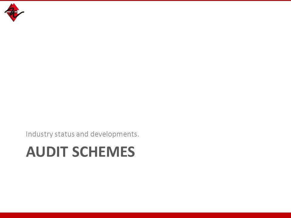 AUDIT SCHEMES Industry status and developments. 39