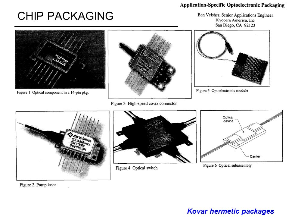 CHIP PACKAGING Kovar hermetic packages