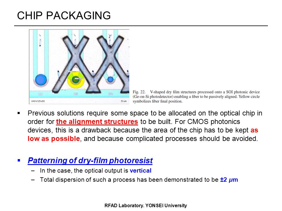 CHIP PACKAGING RFAD Laboratory.