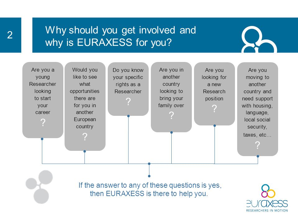 Why should you get involved and why is EURAXESS for you.
