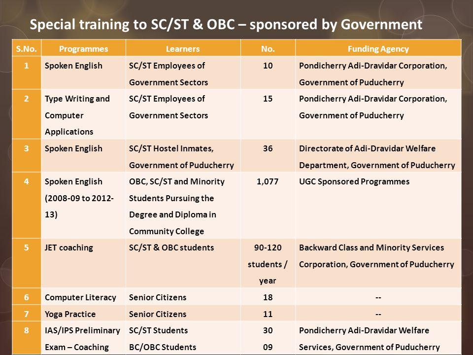 The New Community College Scheme - In Pondicherry University Community College, Lawspet, Puducherry-605008.