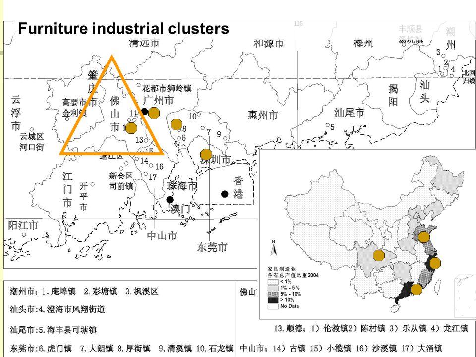23 Furniture industrial clusters