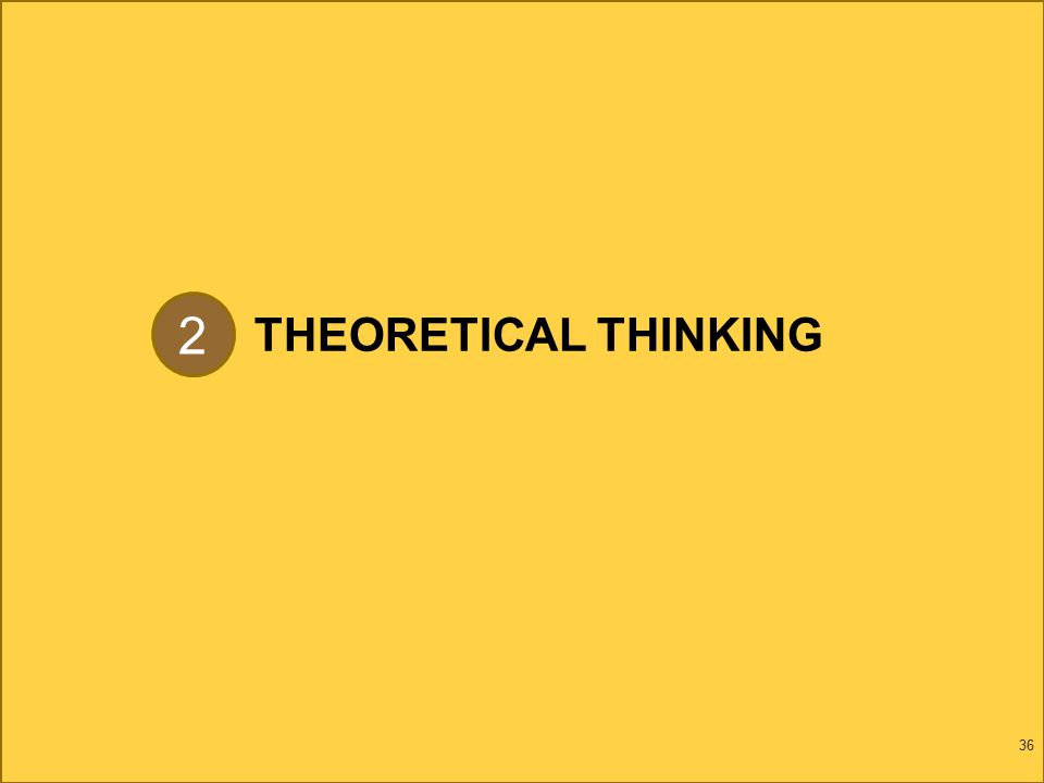 THEORETICAL THINKING 36 2