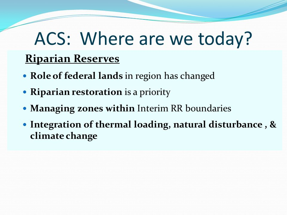ACS: Where are we today.