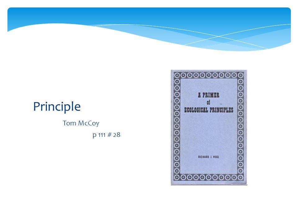 Principle Tom McCoy p 111 # 28