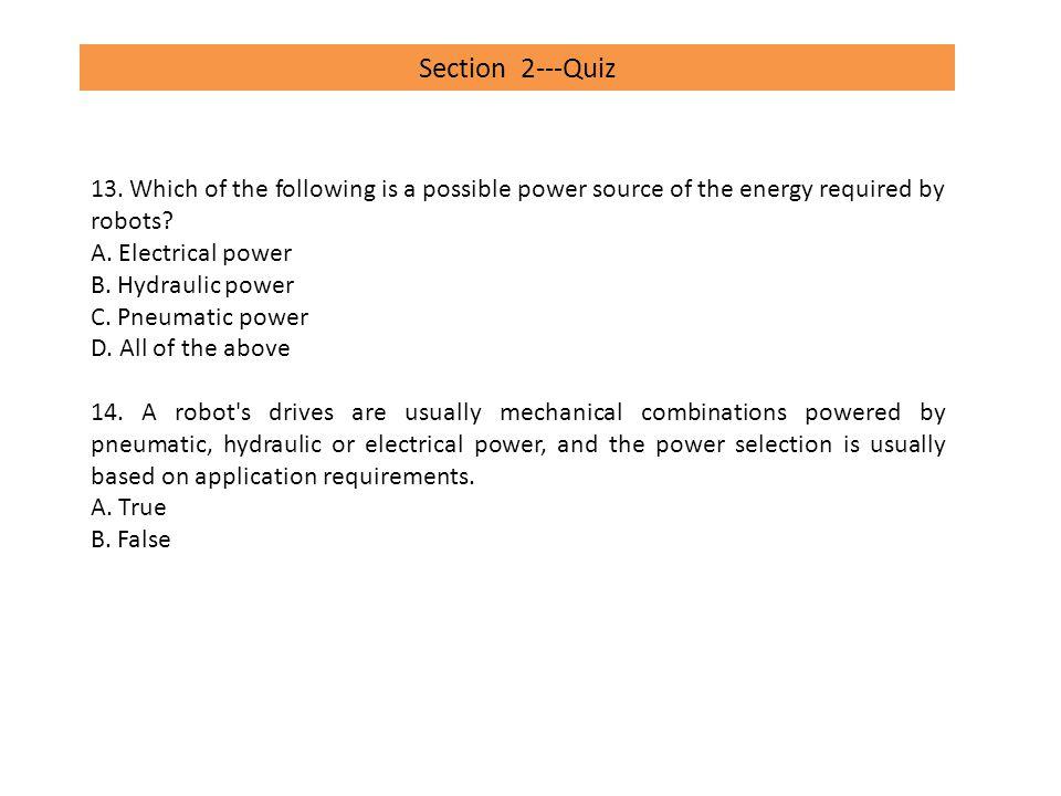 Section 5---Quiz 1.