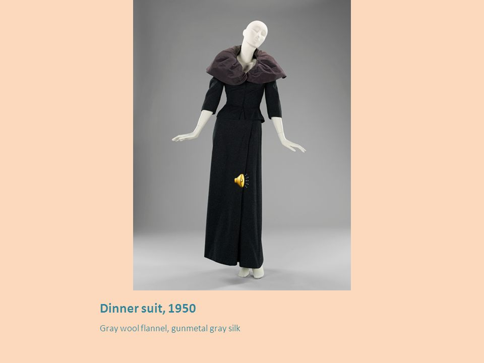 Suit, 1950 Mulberry wool broadcloth