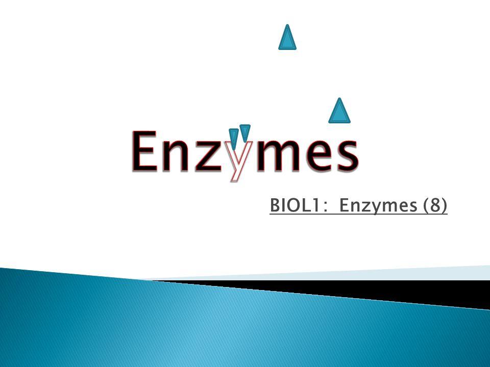 BIOL1: Enzymes (8)