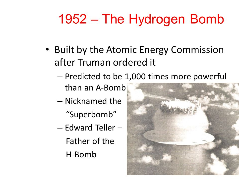 The Difference Between the Two Bombs Fission Reaction (A-Bomb) Fusion Reaction (H- Bomb) VS.