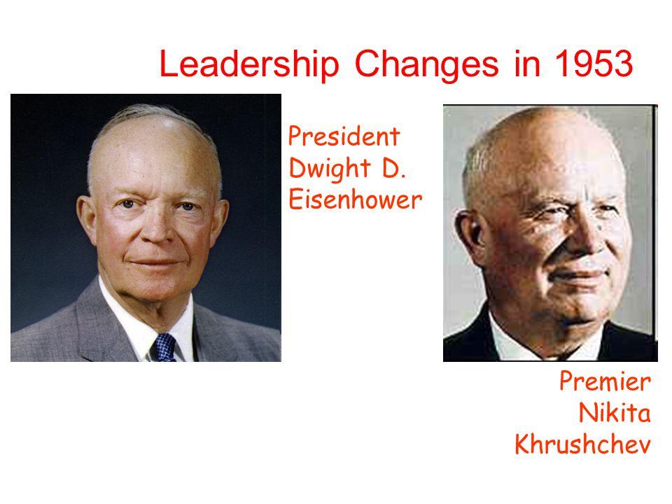 Leadership Changes in 1953 President Dwight D. Eisenhower Premier Nikita Khrushchev