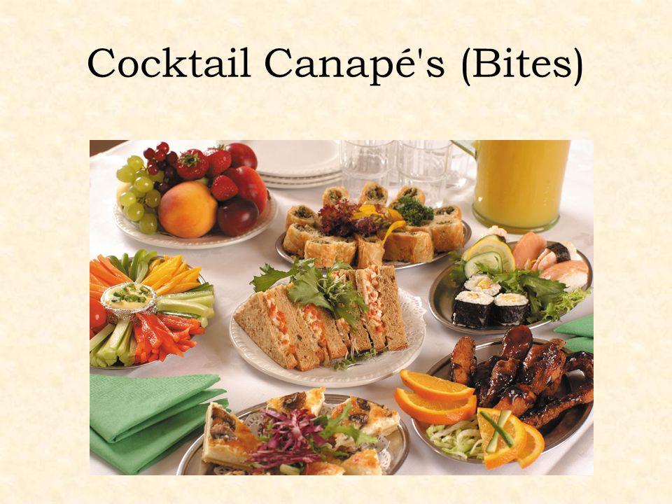 Cocktail Canapé's (Bites)