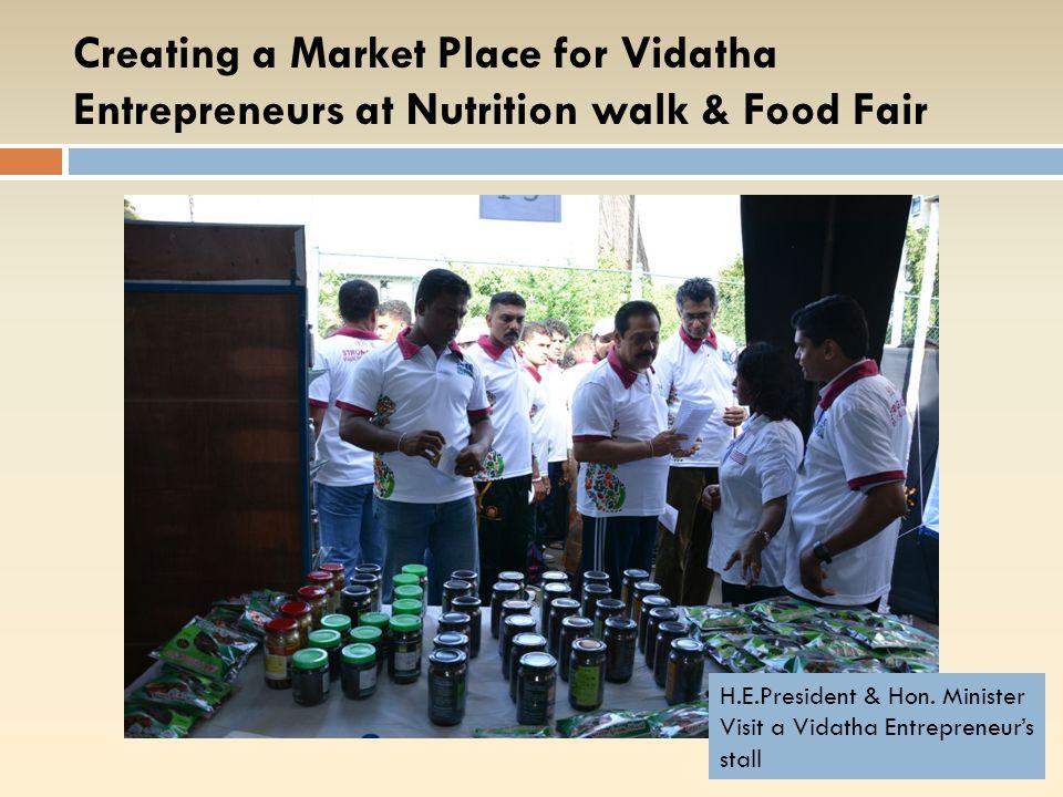 CREATING MARKETING OPPORTUNITIES  FOR VIDATHA SMEs YearProgram 2014 Nutrition Walk & Food Fair Food Day SME Marketing Program -Kandy SME Marketing Program -Kaluthara SME Marketing Program -Galle