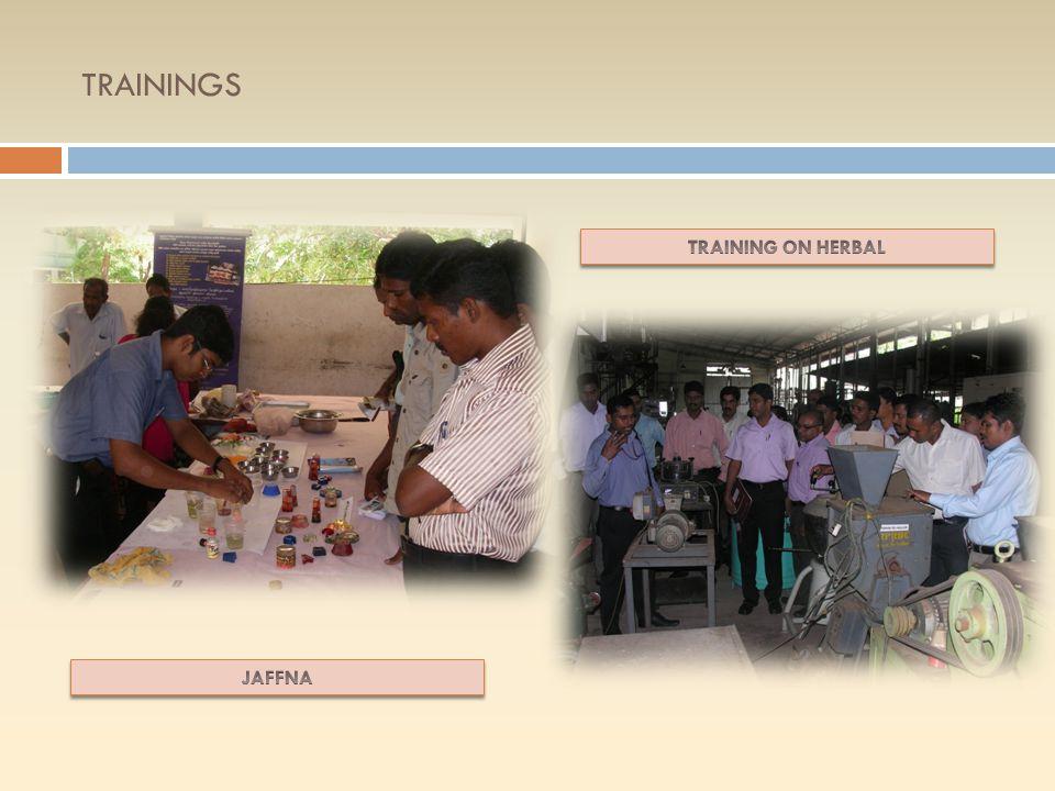 DIVINEGUMA TRAINING PROGRAMS cont… YearDistrictTraining ProgramParticipants 2013BatticaloaPackaging & Labeling, Jam42 PolonnaruwaYoghurt24 Kilinochchi