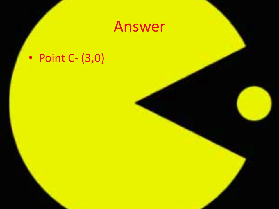 Answer Point C- (3,0)