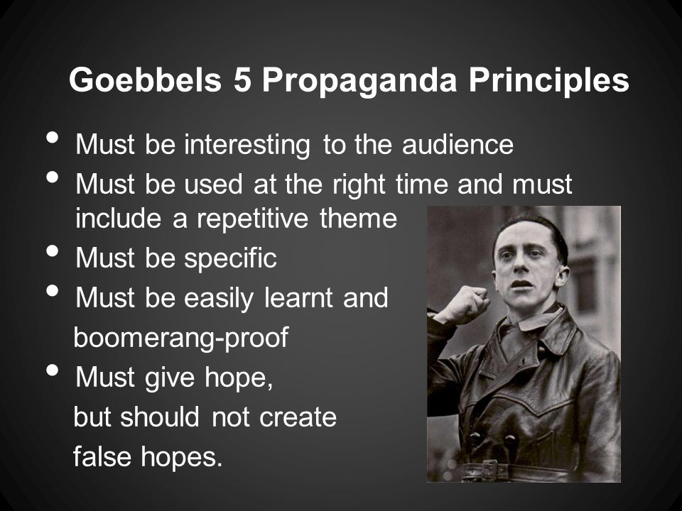 What types of Propaganda were used.