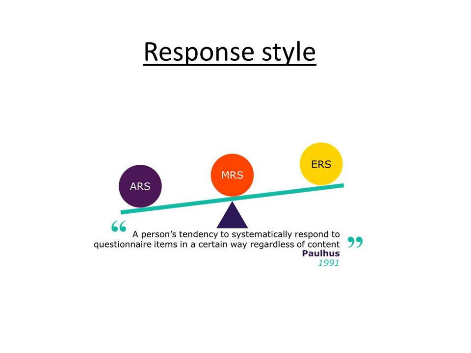 Response style