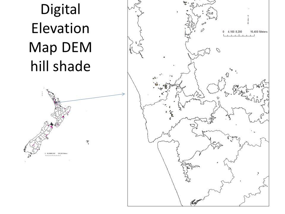 Digital Elevation Map DEM hill shade