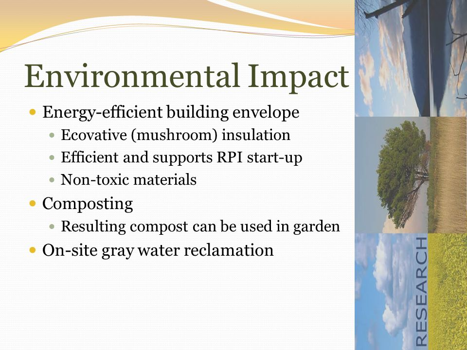 Economic Impact South facing passive solar windows Photovoltaic (PV) Panels Solar water heating Passive cooling instead of air conditioning