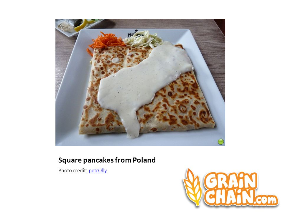 Square pancakes from Poland Photo credit: petrOllypetrOlly