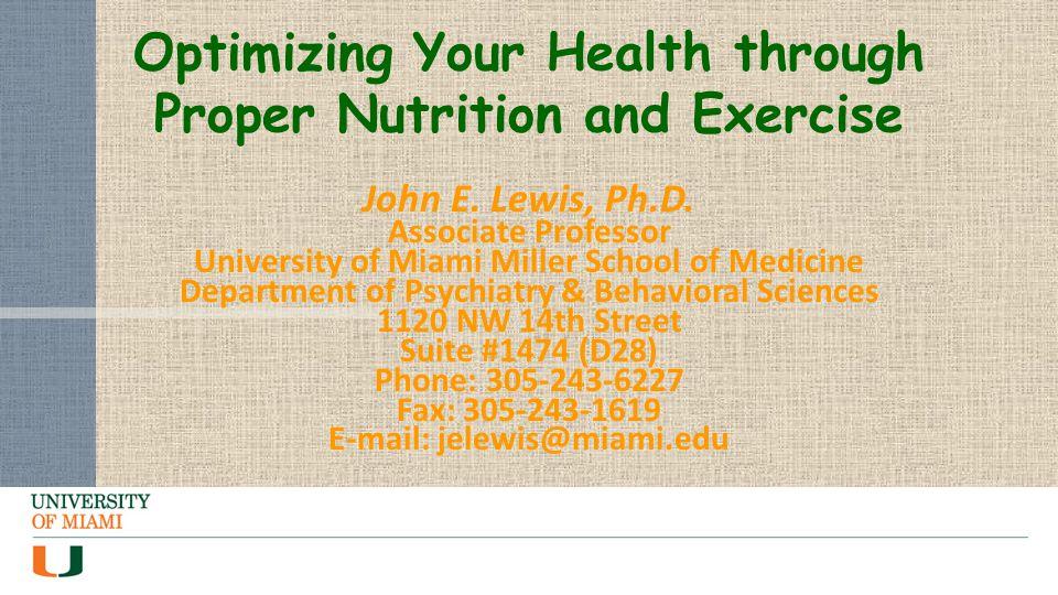 John E. Lewis, Ph.D.