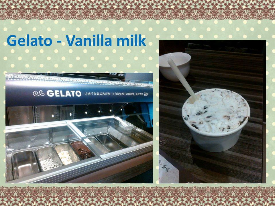 Gelato - Vanilla milk