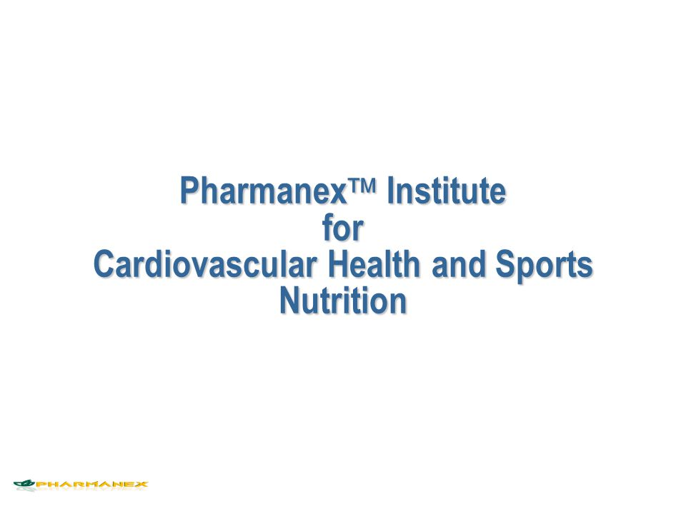 Pharmanex  Institute n Peer reviewed science n Education n Public communication