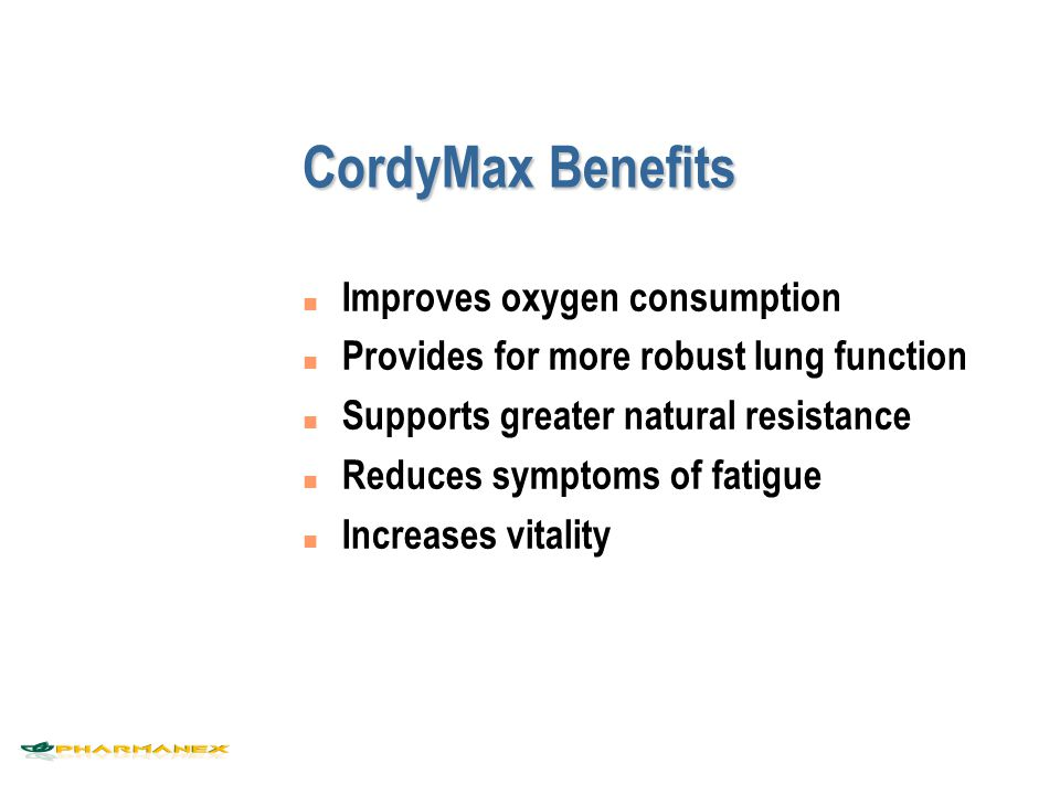 CordyMax  Cs-4 Competitive Positioning Quality of Life (Overcome Fatigue) Athletic Performance (Enhancement) Age  Younger  Older CordyMax  Cs-4   Ginsana