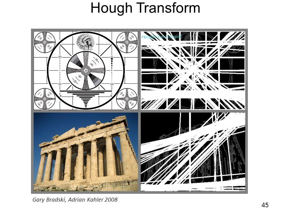 Hough Transform 45 Gary Bradski, Adrian Kahler 2008