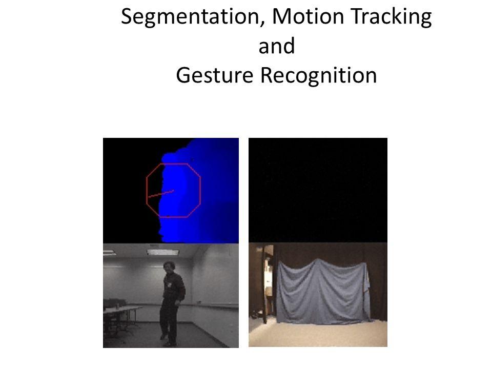 Segmentation, Motion Tracking and Gesture Recognition Pose Recognition Motion Segmentation Gesture Recognition Motion Segmentation Screen shots by Gar