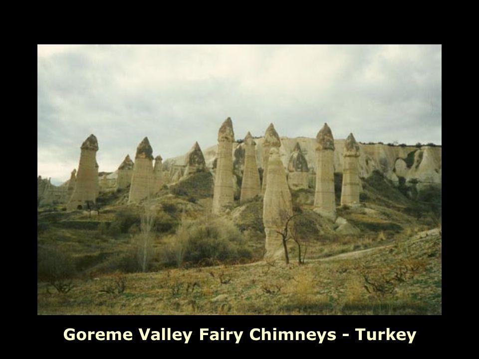 Goreme Valley Fairy Chimneys - Turkey