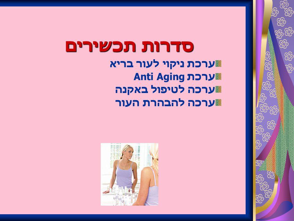 סדרות תכשירים ערכת ניקוי לעור בריא ערכת Anti Aging ערכה לטיפול באקנה ערכה להבהרת העור