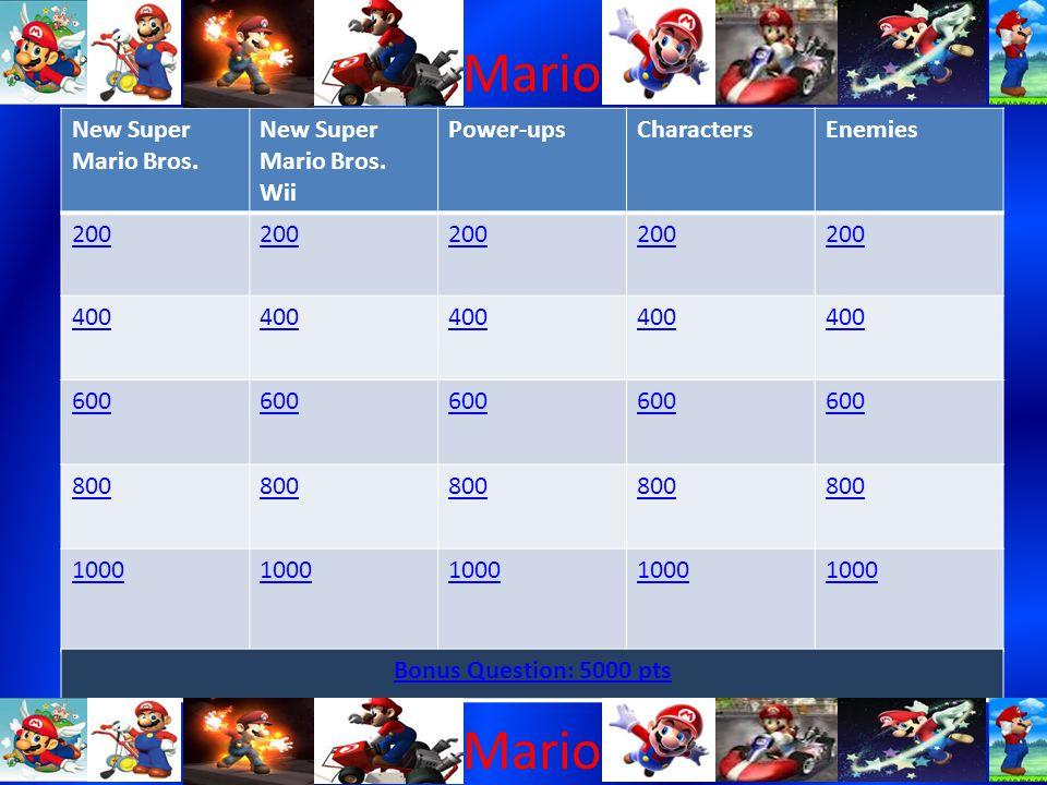 Mario New Super Mario Bros. New Super Mario Bros.