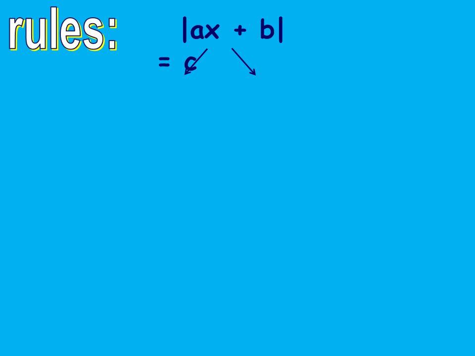 |ax + b| = c