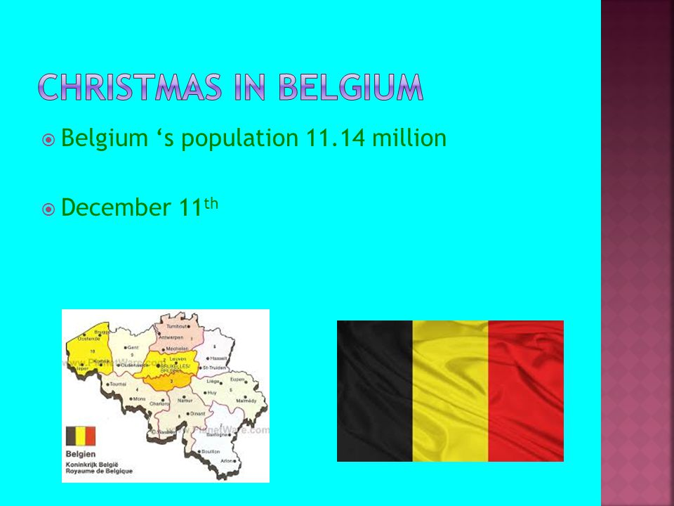  Belgium 's population 11.14 million  December 11 th