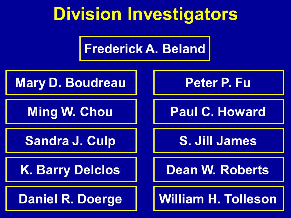 Division Investigators Frederick A. Beland Ming W.