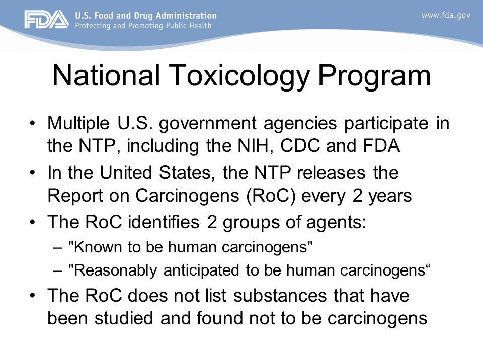 National Toxicology Program Multiple U.S.