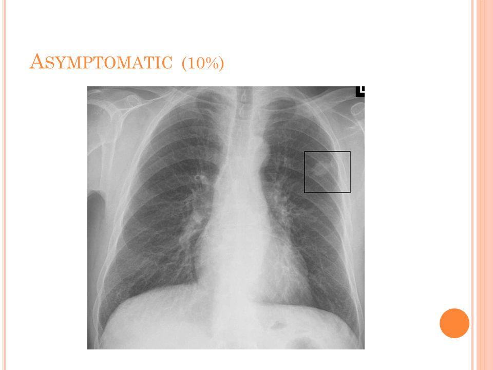 A SYMPTOMATIC (10%)