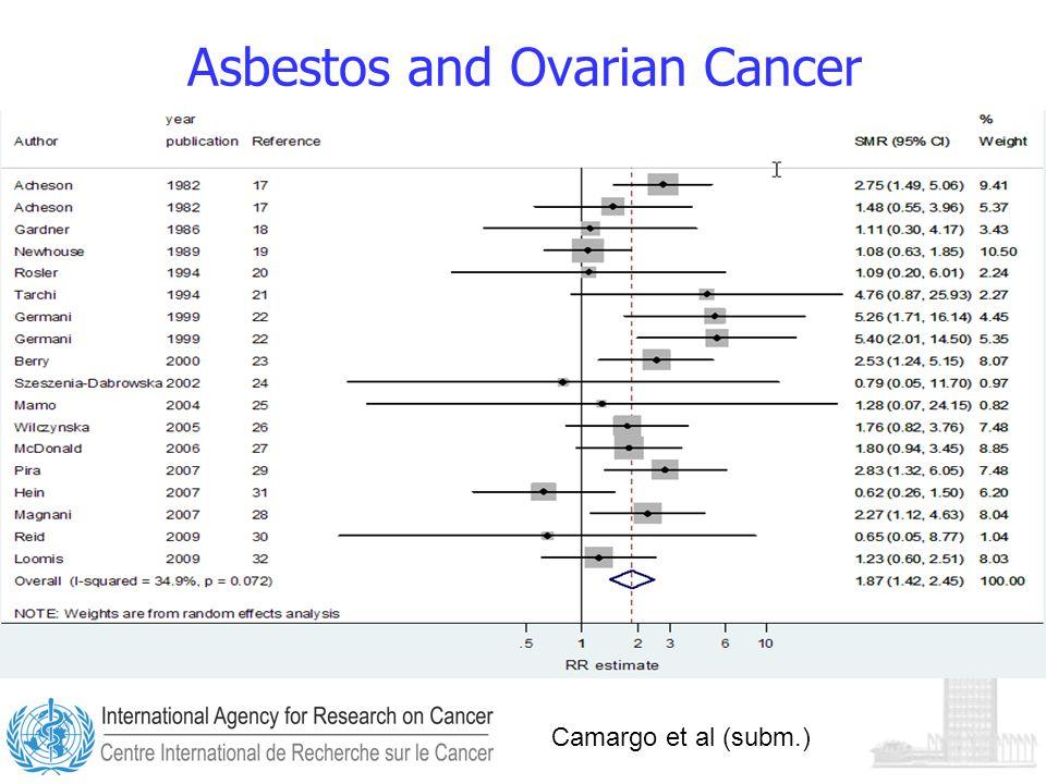 Asbestos and Ovarian Cancer Camargo et al (subm.)