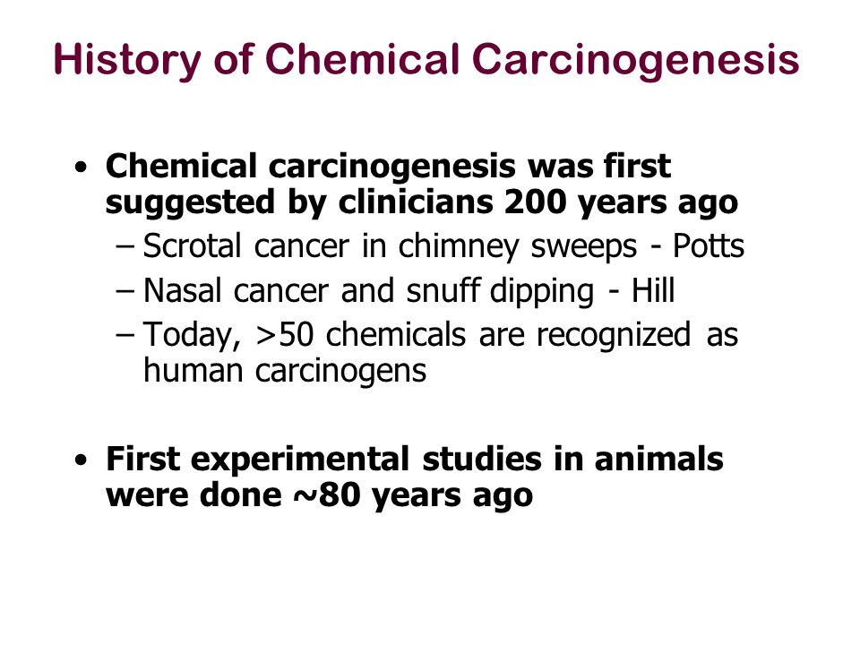 Large numbers of chemicals were tested for carcinogenic potential in the 1970-1990s –Maximum Tolerated Doses (MTD) were used.