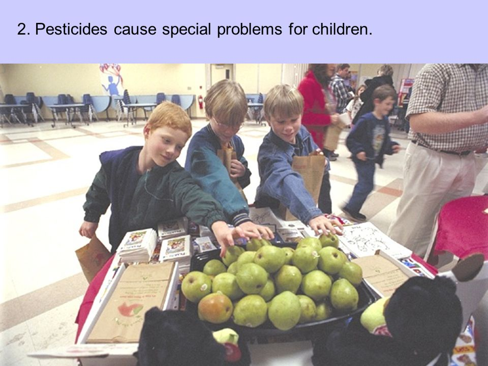 2. Pesticides cause special problems for children.