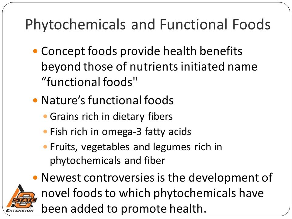 """Phytochemicals and Functional Foods Concept foods provide health benefits beyond those of nutrients initiated name """"functional foods"""