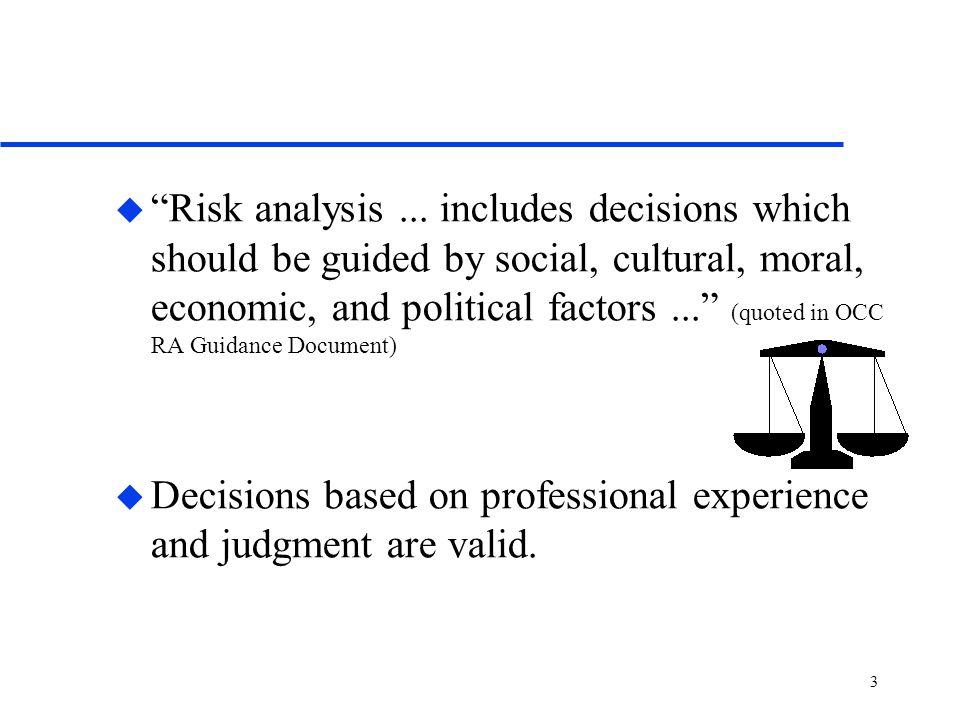 3 u Risk analysis...