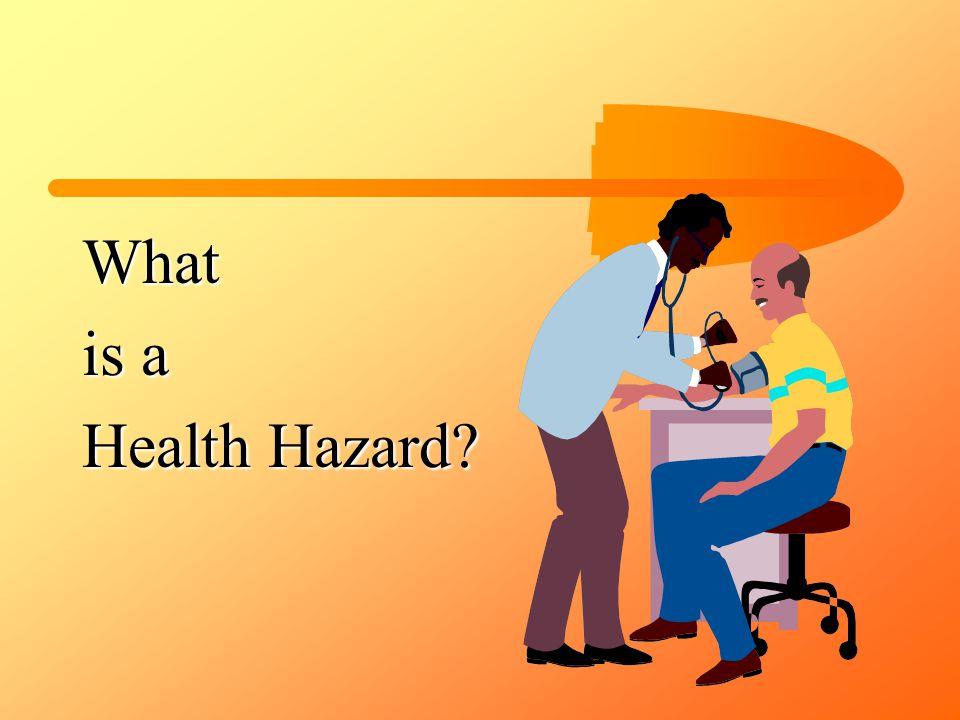 What is a Health Hazard?