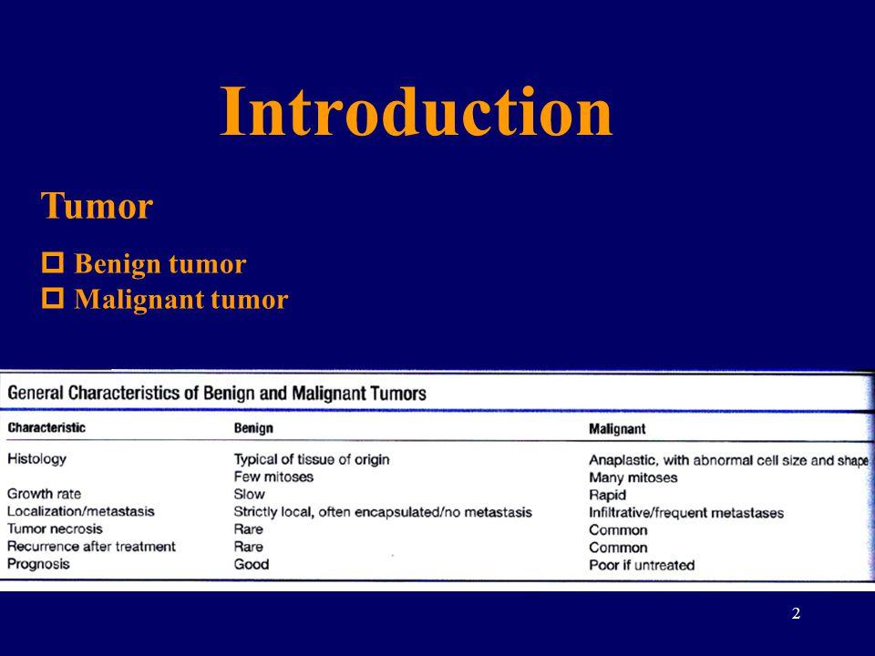 2 Tumor  Benign tumor  Malignant tumor Introduction