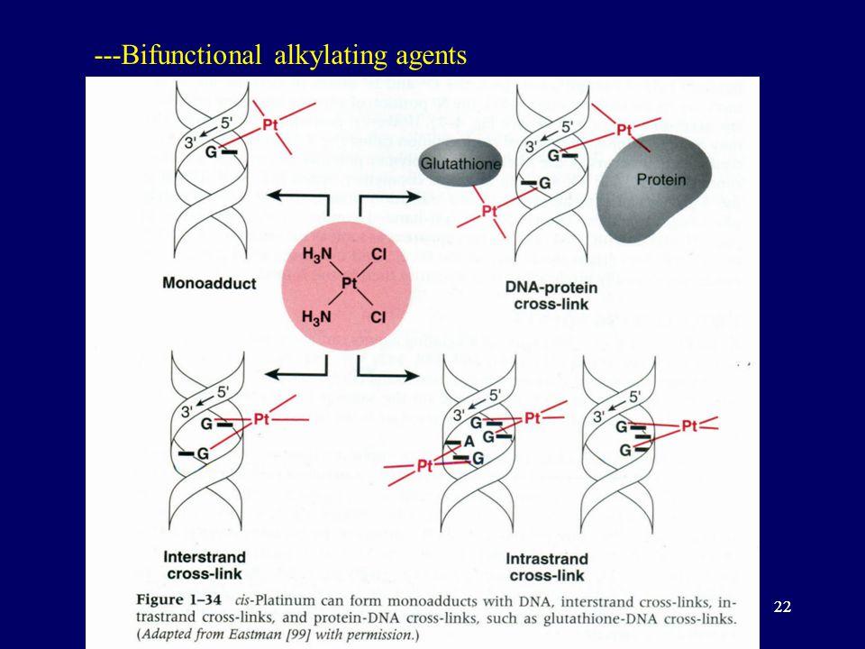 22 ---Bifunctional alkylating agents