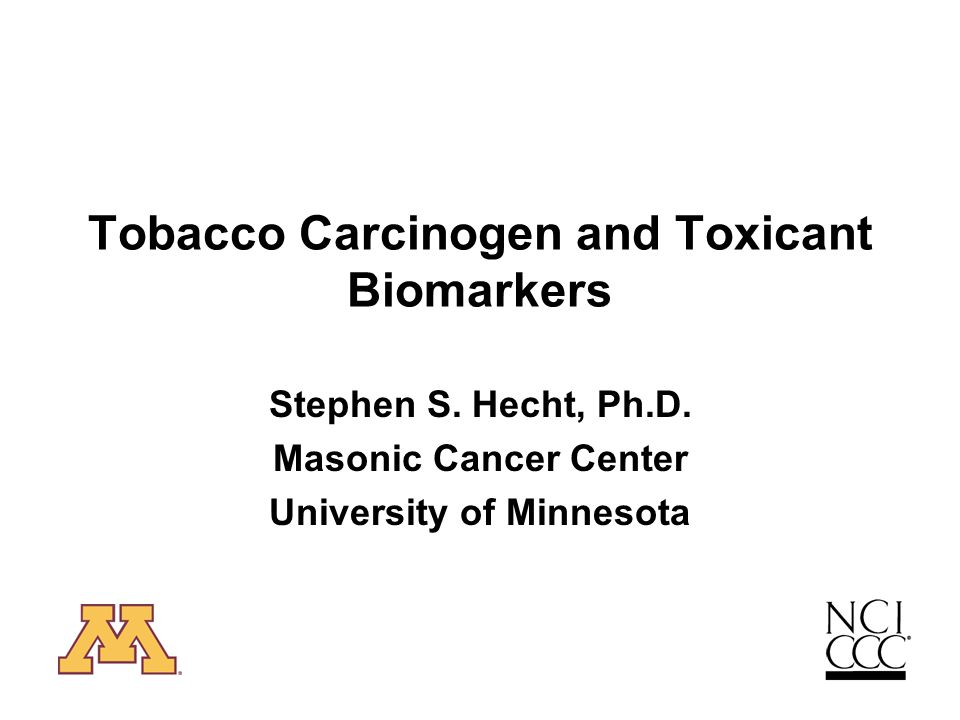Tobacco Carcinogen and Toxicant Biomarkers Stephen S.