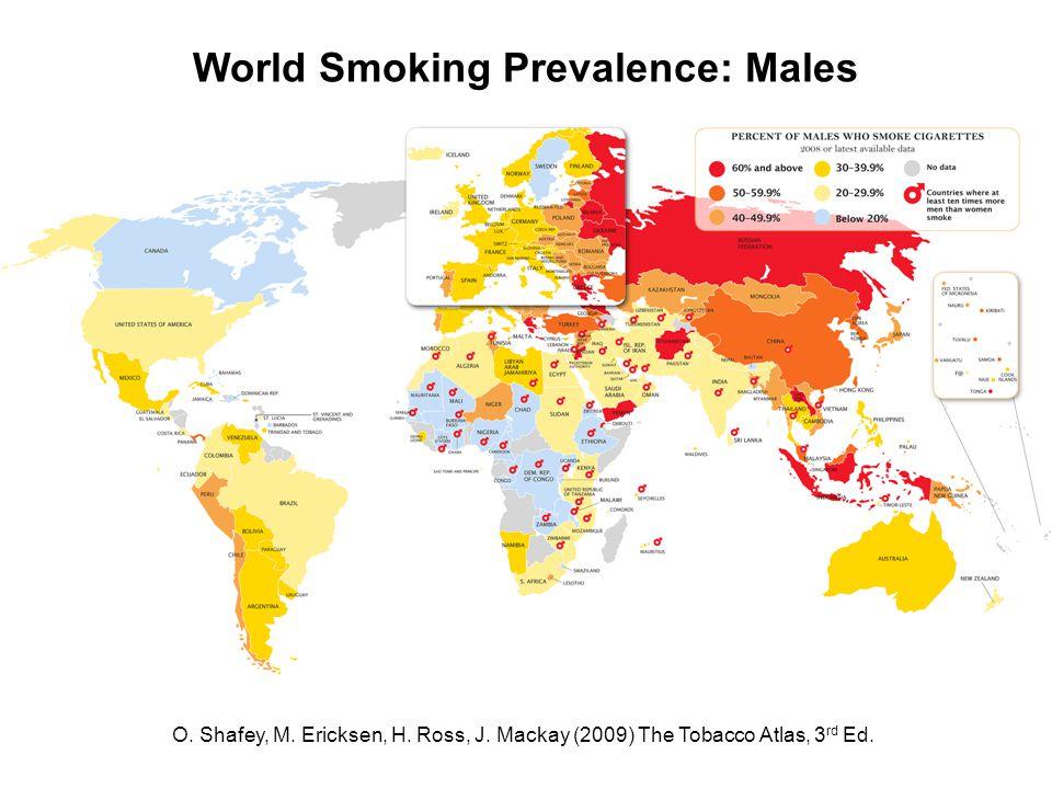 O. Shafey, M. Ericksen, H. Ross, J. Mackay (2009) The Tobacco Atlas, 3 rd Ed.
