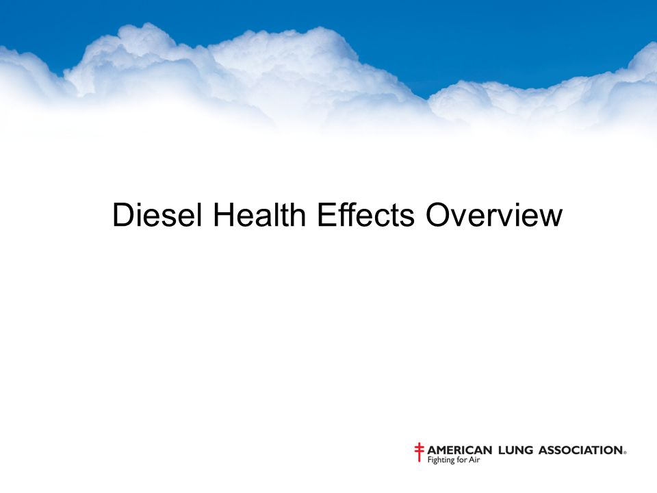 Diesel Health Effects Overview