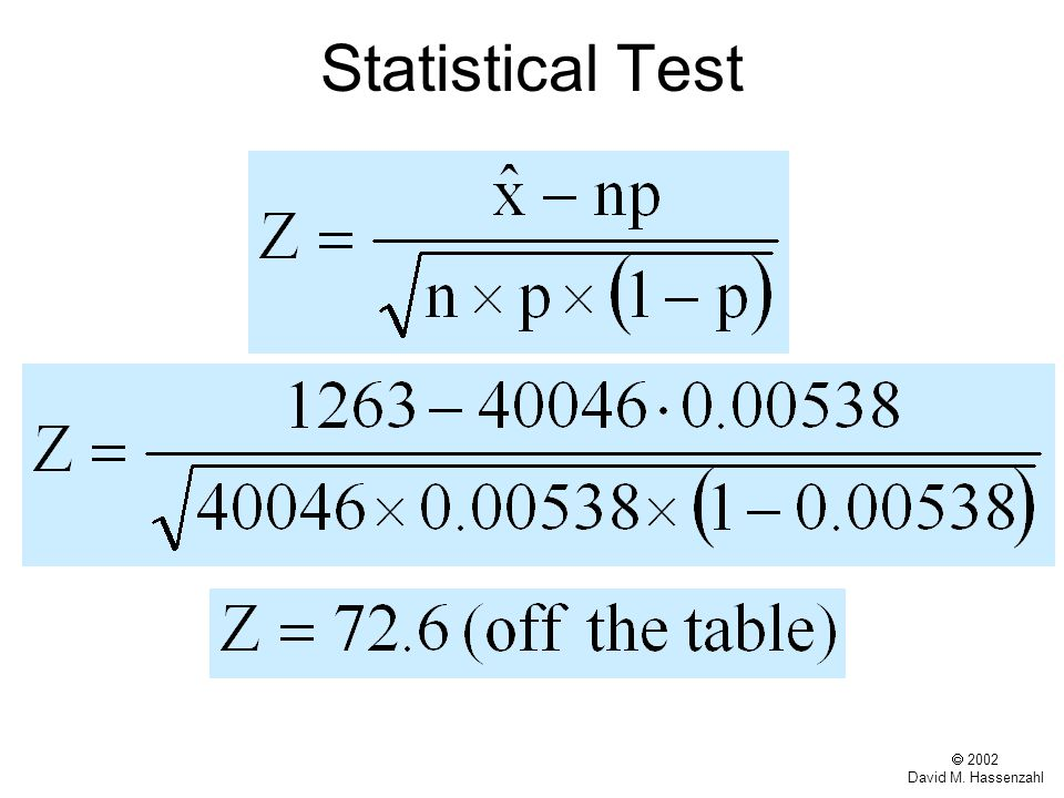  2002 David M. Hassenzahl Statistical Test