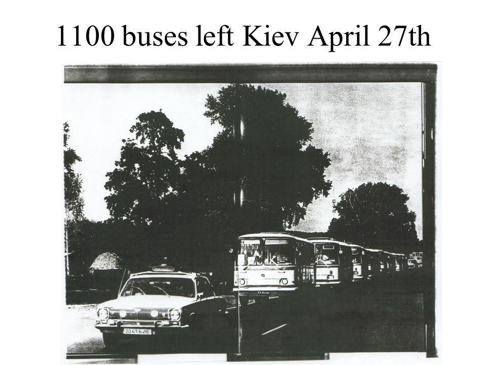1100 buses left Kiev April 27th